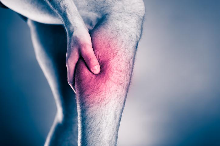 Physical injury, calf leg pain