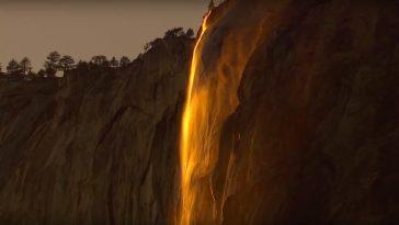 cascade feu Yosémite