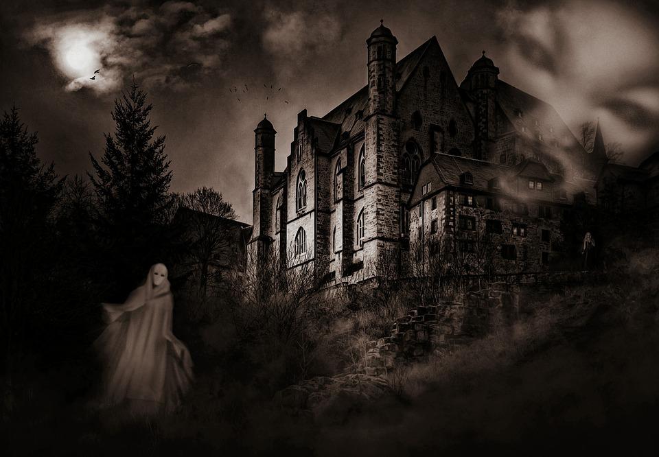 maison hantée fantôme peur