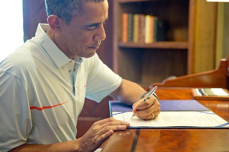 Barack Obama gaucher