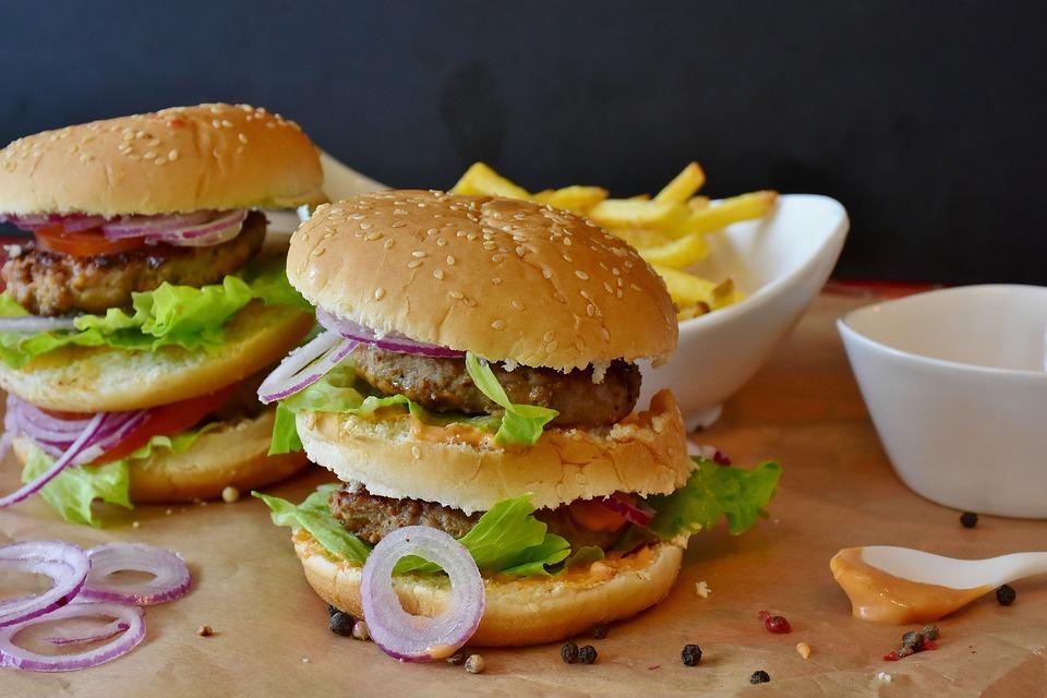 buger fast food viande