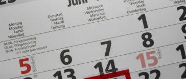 calendrier date année