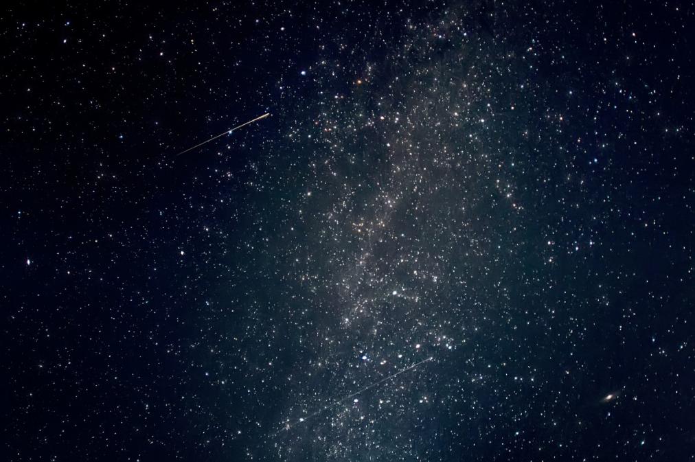 étoile filante nuit espace univers