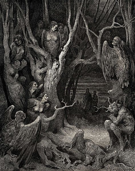 Harpies enfers Gustave Doré