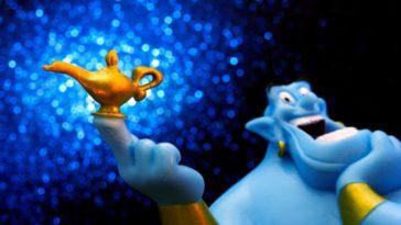 génie Aladdin bleu
