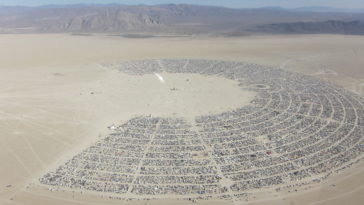 Burning man site