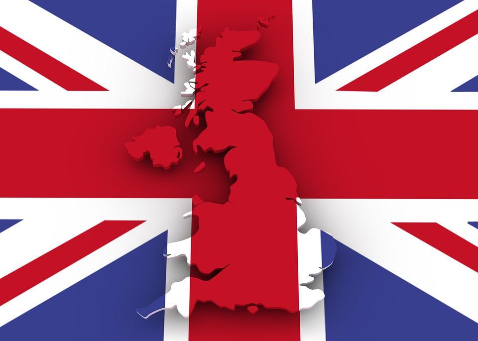 carte et drapeau royaume uni
