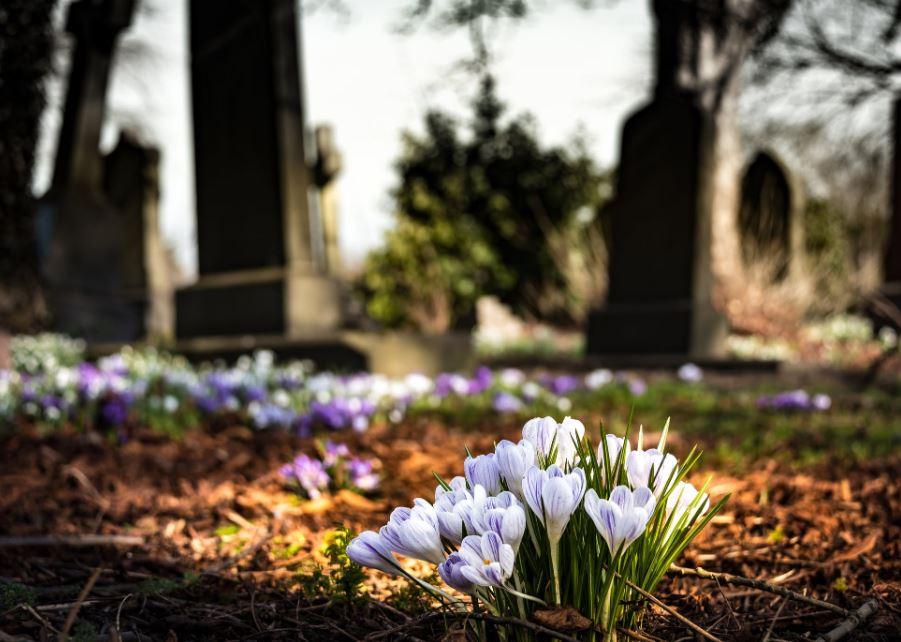 étapes deuil cimetière