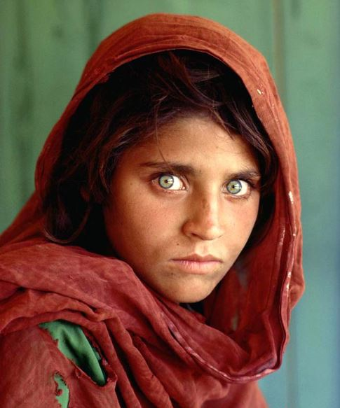 Afghane aux yeux verts photo