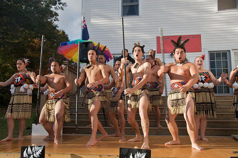Haka danse maorie