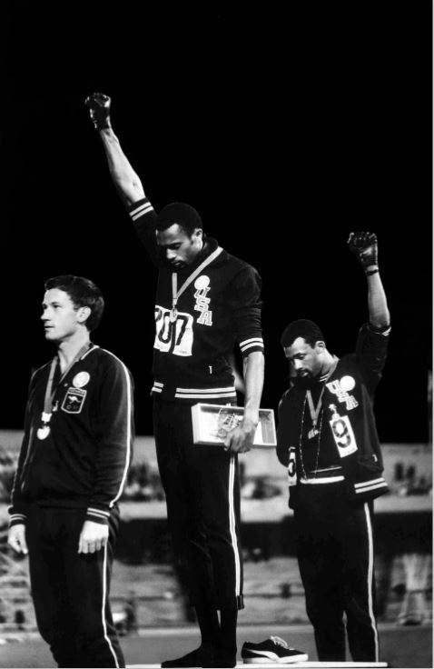 black power JO Tommie Smith photo