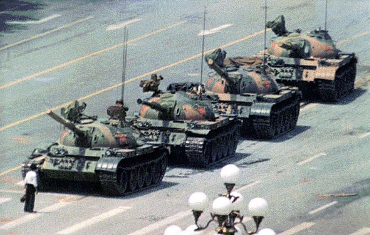 tiananmen tank photo