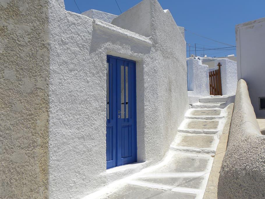 Santorin Grèce murs blancs