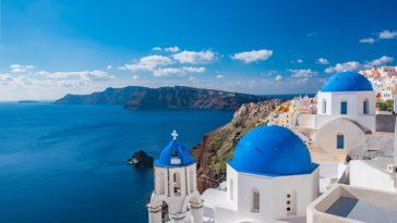 île Santorin Grèce murs blancs
