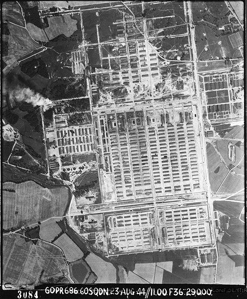 Auschwitz vue aérienne
