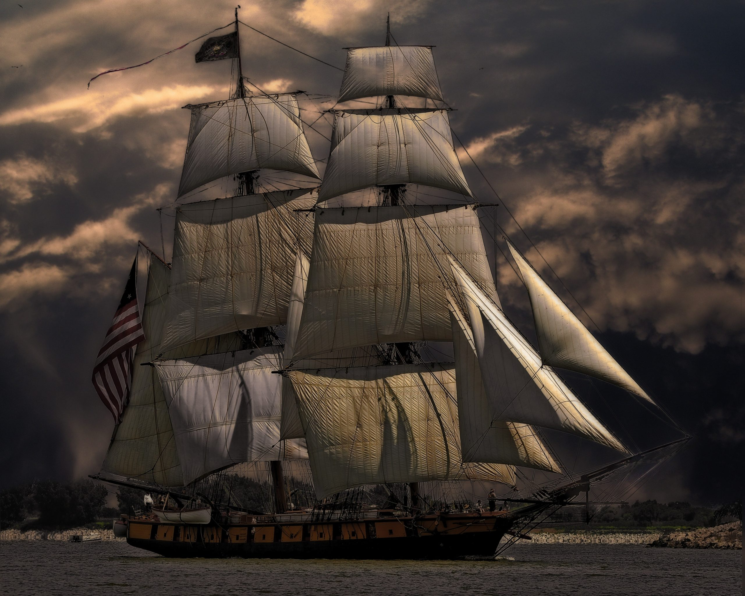 bateau de pirate barbe noire