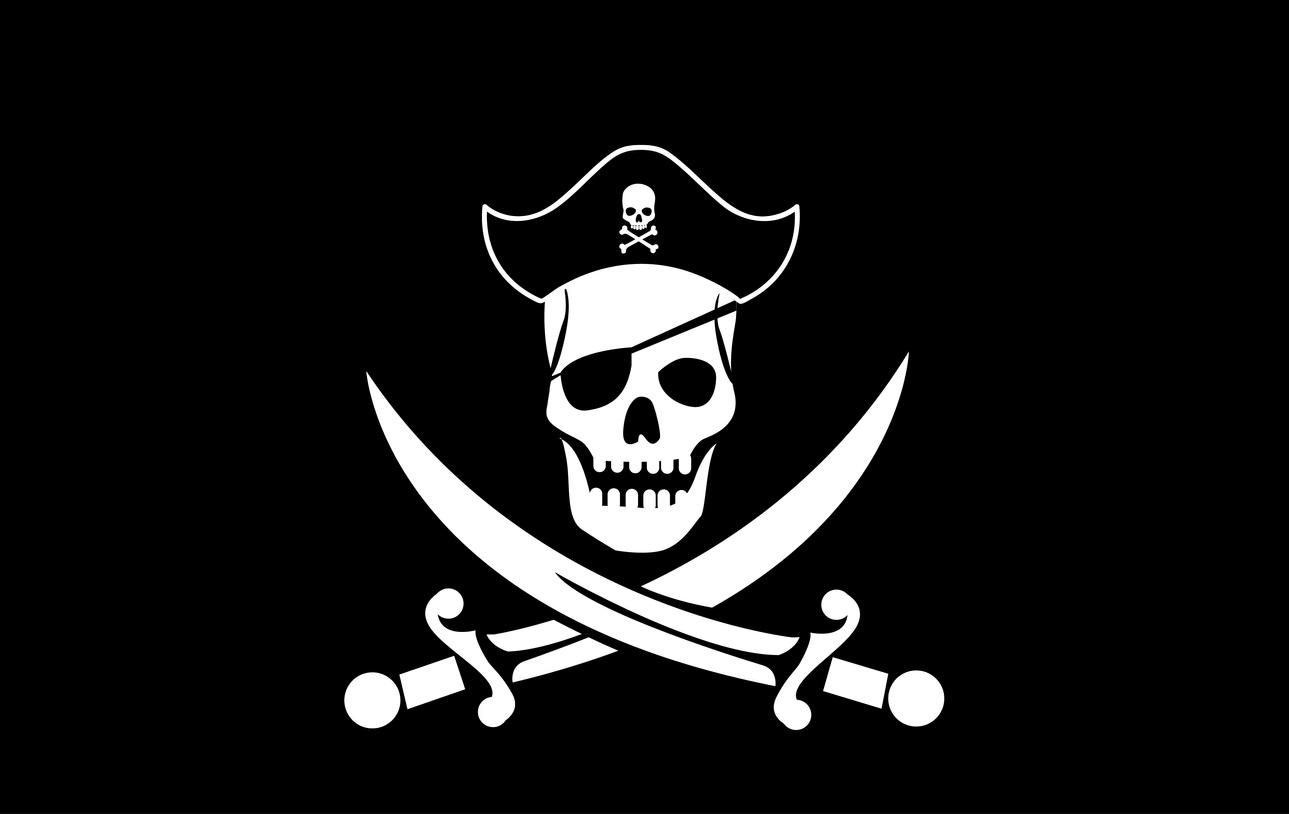 drapeau de pirate barbe noire