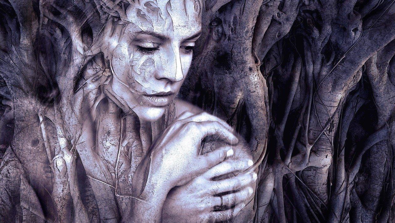 héroïnes Daphnée qui se transforme en arbre
