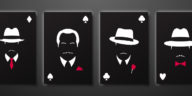 les 4 dalton silhouettes gangsters