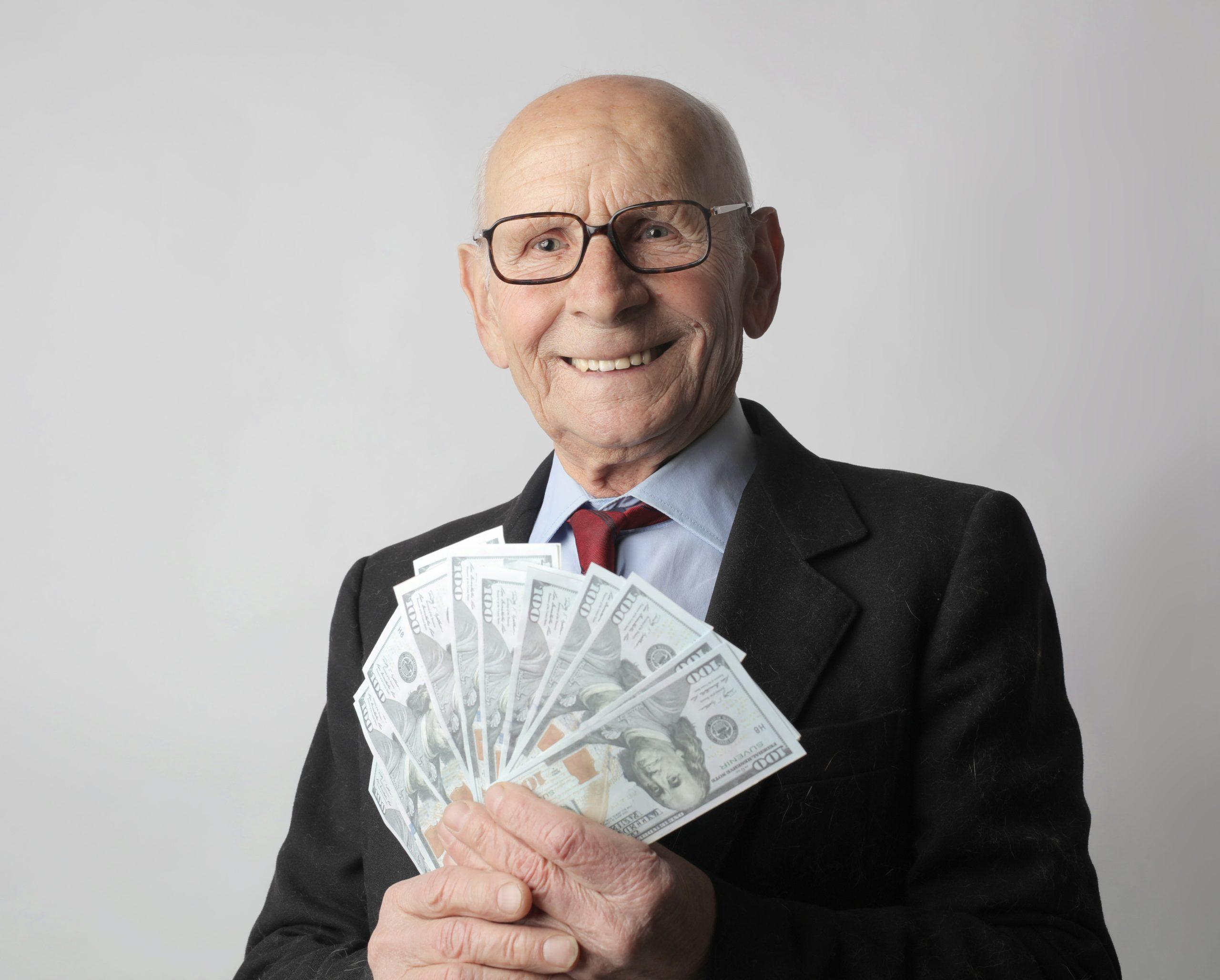 vieil homme riche