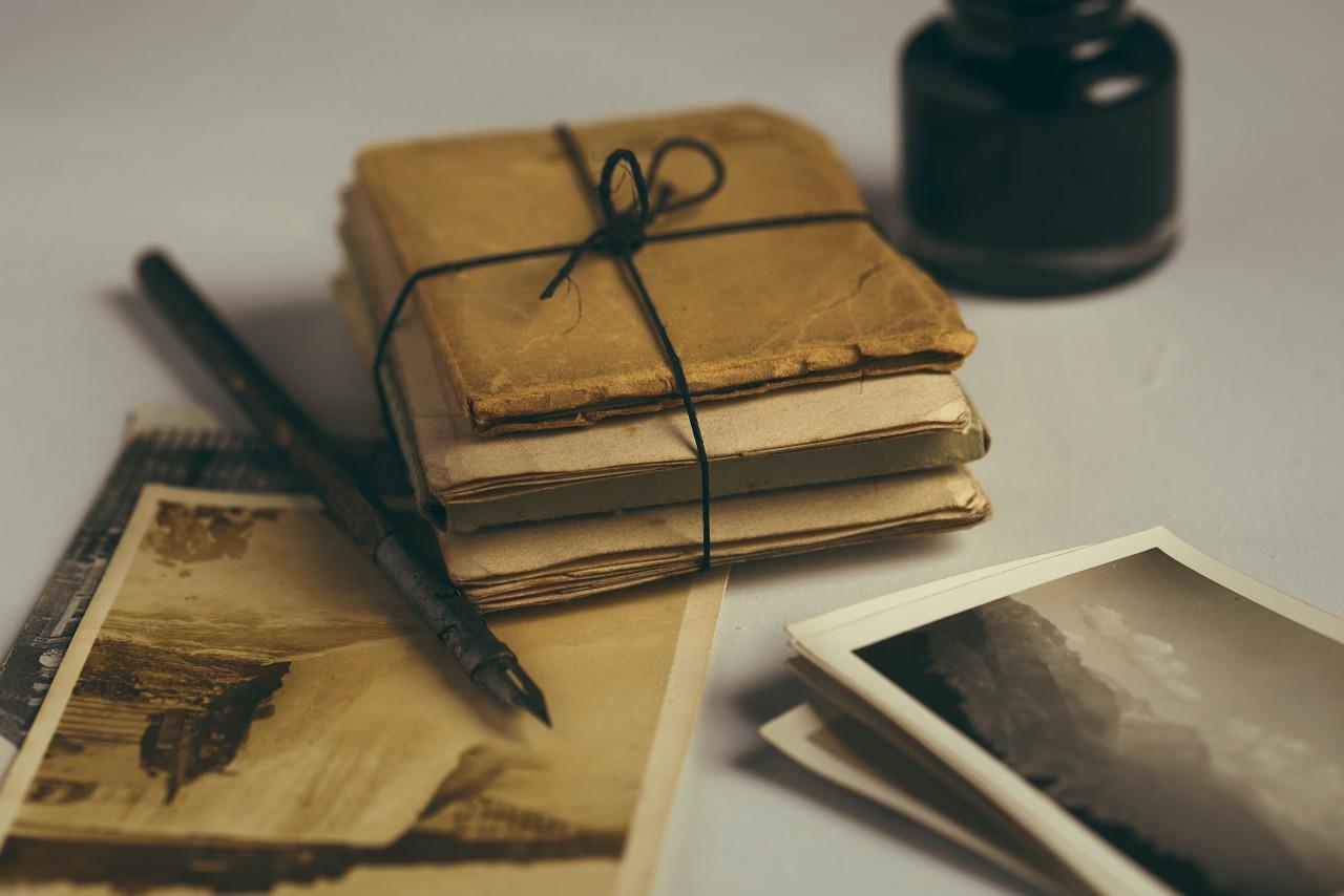 vieilles lettres et carte le trésor de Beale